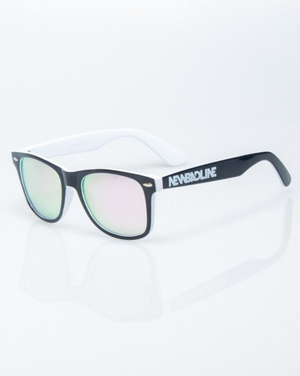 390f412a45e754 OKULARY CLASSIC INSIDE BLACK-WHITE FLASH PINK MIRROR 1207